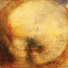 J.M.W. Turner's Light and Colour (Goethe's Theory)—the Morning After the Deluge—Moses Writing the Book of Genesis, 1843, was one of two works recovered by the Tate Gallery after being stolen.
