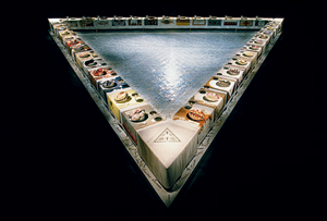 Judy Chicago's The Dinner Party, 1979, makes it into Janson's upcoming seventh edition.