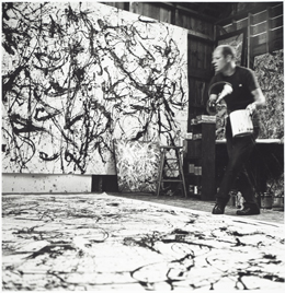 Hans Namuth's photographs of Pollock in the act of making his drip paintings became almost as famous as the artworks themselves.