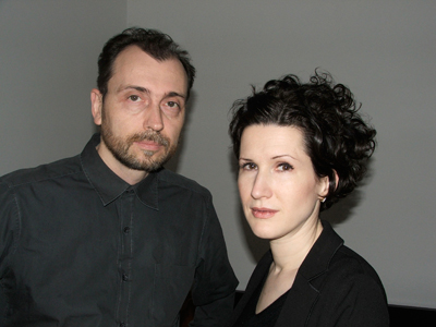 Artist-provocateurs Arye Wachsmuth and Sophie Lillie. Their installation reveals a disturbing secret.