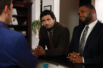 In an episode of Law & Order, detectives played by Jeremy Sisto and Anthony Anderson find a lead in a murder victim's art collection.