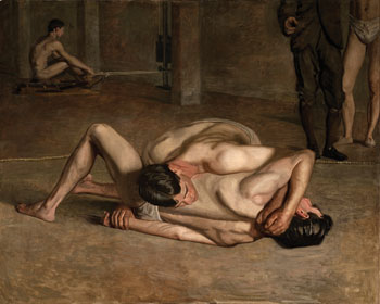 Eakins's Wrestlers, 1899, can be read as the artist's symbolic self-portrait.