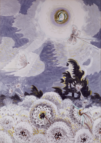 Dandelion Seed Heads and the Moon, 1961-65.
