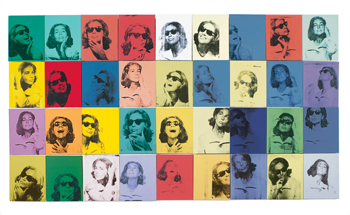 Ethel Scull 36 Times, 1963, was Andy Warhol's first commissioned portrait.