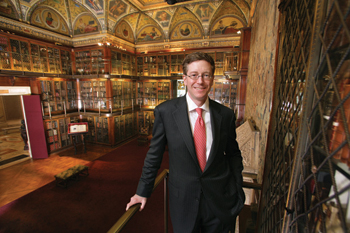 Director William M. Griswold in the library of the Morgan, where highlights from the collection will be exhibited.