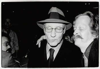 Ramon J. Muxter, right, held his camera at arm's length to take William Burroughs and Me, Self-Portrait with William Burroughs, Spring Street Bar, New York, 1976.