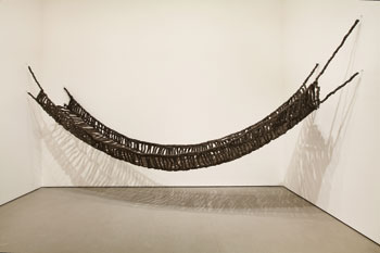 Pascali's arte povera masterwork, the braided steel-wool Ponte (Bridge), 1968, first shown at Rome's gallery L'Attico.