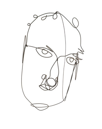 Calder's Self-Portrait, 1968.