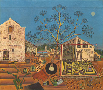 Ernest Hemingway gambled for the chance to purchase Joan Miró's The Farm, 1921-22.