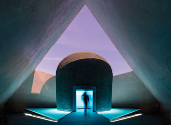 James Turrell's Within without, 2010, one of the works selected for Slow Art Day at the National Gallery of Australia. The light and colors inside the installation change with the time of day.