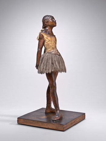 The National Gallery's wax Little Dancer Aged Fourteen, 1879-81, the only sculpture Degas ever allowed to be exhibited.