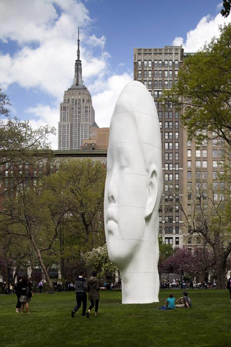Jaume Plensa Echoes Madison Square Park