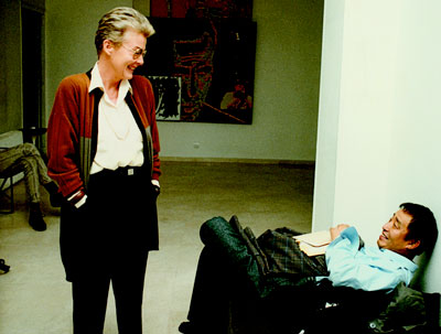 ... with Nam June Paik in 1989, the year of his first exhibition in Spain.