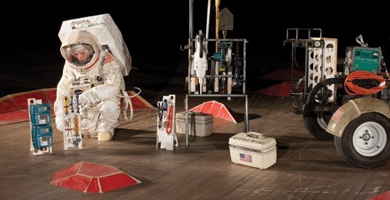 Tom Sachs's studio team prepares for his reenactment of a trip to Mars at the Park Avenue Armory.