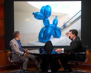 Jeff Koons and Stephen Colbert Trade