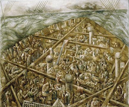 Lasar Segall, Navio de Emigrantes, 1939-41. Galería Sur.