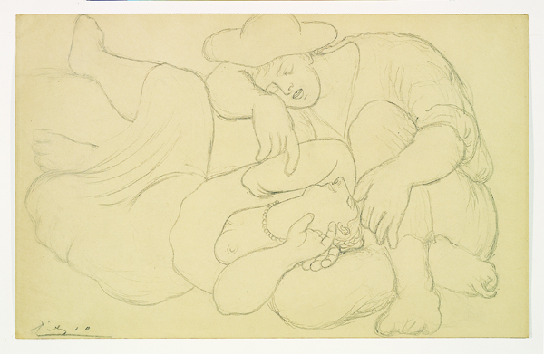 Pablo Picasso, La Sieste (Les Moissonneurs), 1919, pencil on paper. ARKANSAS ARTS CENTER FOUNDATION COLLECTION: PURCHASE, FRED W. ALLSOPP MEMORIAL ACQUISITION FUND. ACCESSION NUMBER 1984.052.