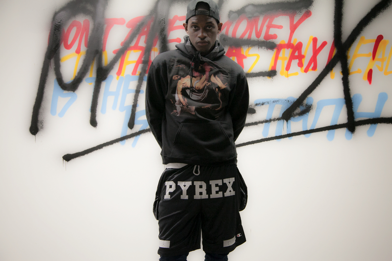 "Hoodie from Virgil Abloh's ""Youth Always Win"" collection. From PYREX Vision Spring/Summer 2013."