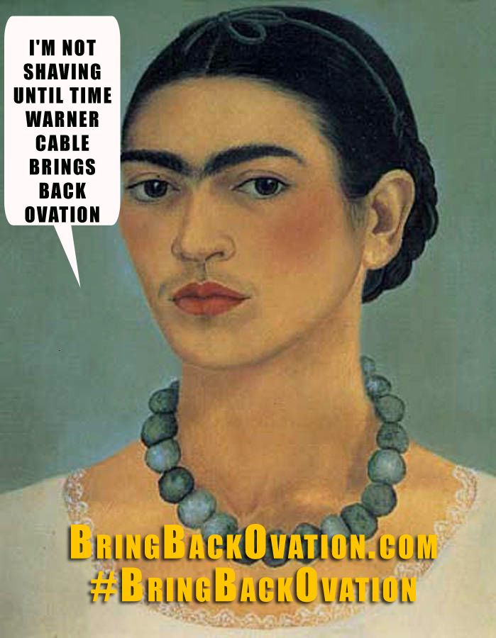 Frida Kahlo campaigns for the Ovation channel.