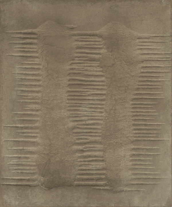 Marcos Grigorian, Untitled, n.d., sand and enamel on canvas