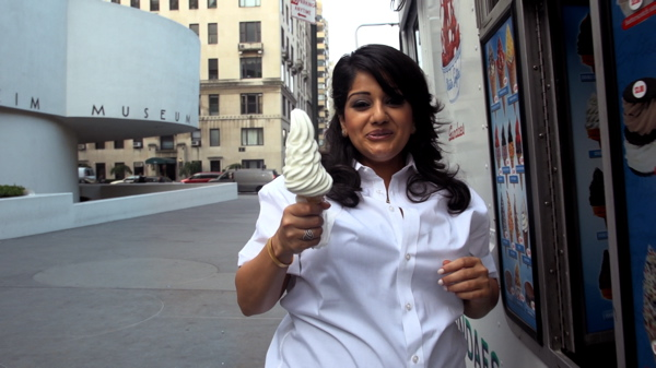 Divya Mehra, Still from On Tragedy (Did you hear the one about the Indian?), 2012.