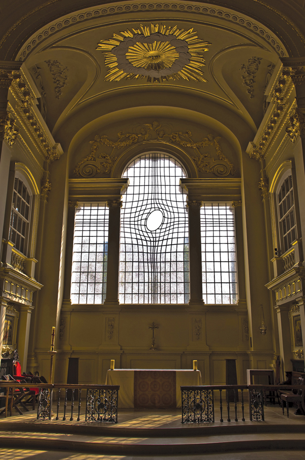 Houshiary and Horne's window for St. Martin-in-the Fields, London, 2008.