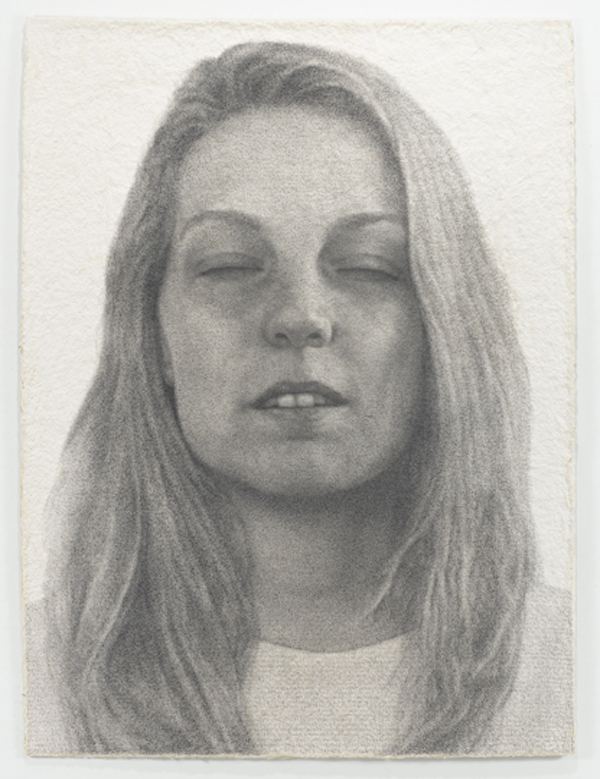 Ben Durham, Heather, 2012, graphite text on handmade paper. COURTESY: NICOLE KLAGSBRUN GALLERY AND THE ARTIST. PHOTO: CHRISTOPHER BURKE STUDIOS.