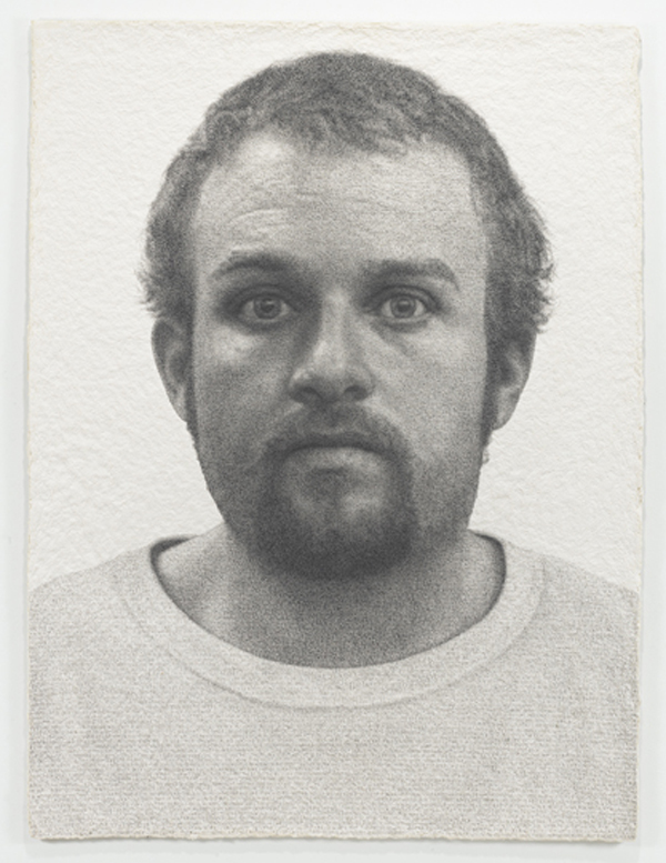Ben Durham, Jack, 2012, graphite text on handmade paper. COURTESY: NICOLE KLAGSBRUN GALLERY AND THE ARTIST. PHOTO: CHRISTOPHER BURKE STUDIOS.