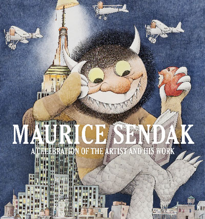 The cover of Maurice Sendak: A Celebration of the Artist and His Work, which accompanies the Society of Illustrators show. Sendak originally created the image for a 1979 book fair.