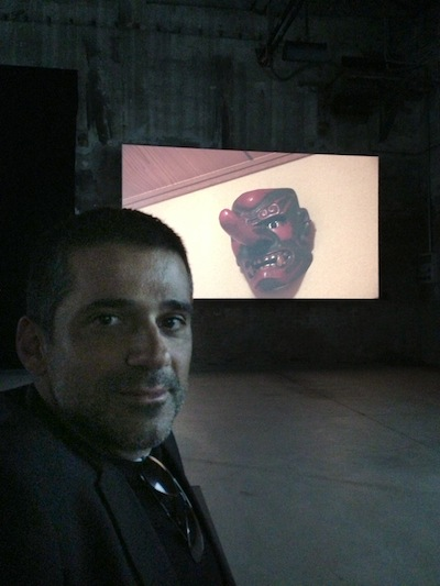 Ali Kazma, artist of the Pavilion of Turkey, with his Resistance. Venice Arsenale. ©ROBIN CEMBALEST 2013.
