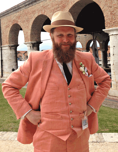 Ragnar Kjartansson at the 2013 Venice Biennale. ©ROBIN CEMBALEST 2013.