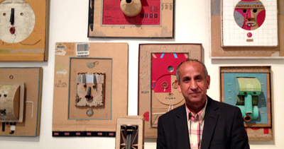 Hashim Taeeh, artist of the Pavilion Iraq at the 2013 Venice Biennale. ©ROBIN CEMBALEST 2013.