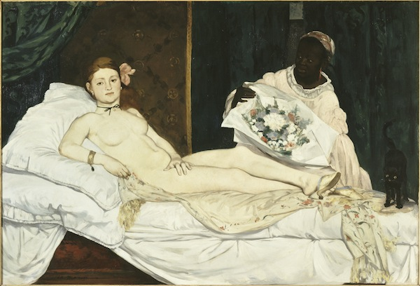 Édouard Manet, Olympia, 1863, oil on canvas. Ducal Palace. PARIS, MUSÉE D'ORSAY. COURTESY MUSÉE D'ORSAY, DIST. RMN-GRAND PALAIS / PATRICE SCHMIDT.