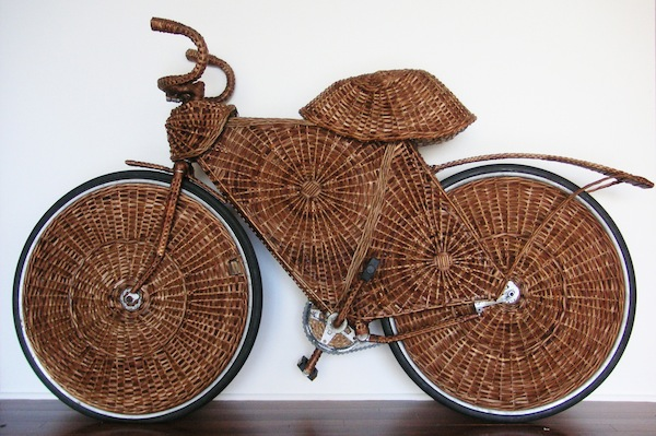 "Jarbas Lopes, A work from the ongoing series ""AERIALBIKEWAY (Cicloviaerea)"" (2001-07) included in the ""Bike Rides"" exhibition at The Aldrich Contemporary Art Museum, Ridgefield, 2009-10. COURTESY THE ARTIST AND A GENTIL CARIOCA, RIO DE JANERIO, COLLECTION OF STEVE MILLER,  NEW YORK."