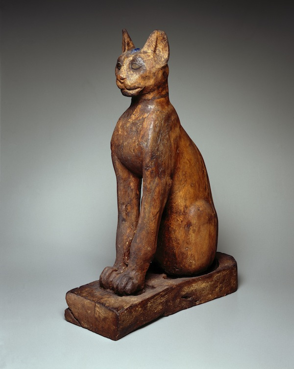 Figure of a Cat, Provenance unknown. Ptolemaic Period-Roman Period, 305 B.C.E.-1st century C.E.