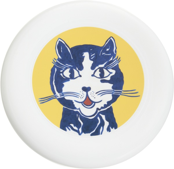 Roy Lichtenstein, Laughing Cat, 1961, flying disc. COURTESY BARNEYS NEW YORK.