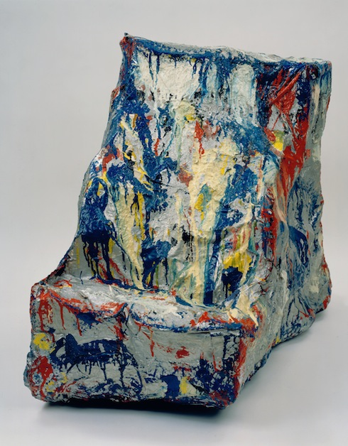 Claes Oldenburg, Cash Register, 1961, muslin soaked in plaster over wire frame, painted with enamel. LOCKSLEY SHEA GALLERY. PHOTO COURTESY THE OLDENBURG VAN BRUGGEN STUDIO ©1961 CLAES OLDENBURG.
