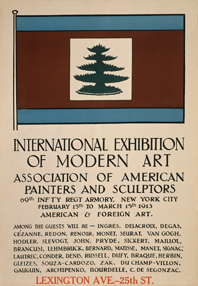 Promotional material for the 1913 International Exhibition of Modern Art, better known as the Armory Show, in New York SMITHSONIAN INSTITUTION, WASHINGTON, D.C., ARCHIVES OF AMERICAN ART, WALT KUHN, KUHN FAMILY PAPERS AND ARMORY SHOW RECORDS