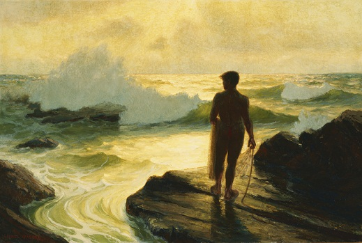 Lionel Walden, Hawaiian Fisherman, 1924, oil on canvas. Gift of Frances Damon Holt in memory of John Dominis Holt/Courtesy Honolulu Museum of Art