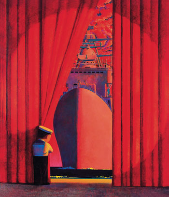 Liu Ye's Big Flagship, 1997,  sold at Beijing Poly's June 1, 2013, sale for RMB 16,675,000 ($2,724,178).©POLY INTERNATIONAL AUCTION CO., LTD
