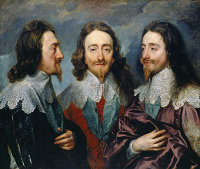 Anthony van Dyck's celebrated triptych of Charles I, 1635–6.  ©2013 HER MAJESTY QUEEN ELIZABETH II/ROYAL COLLECTION TRUST