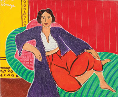 "De Hory in the style of Matisse: Odalisque (above) is an ""original"" Elmyr de Hory. COLLECTION OF MARK FORGY"