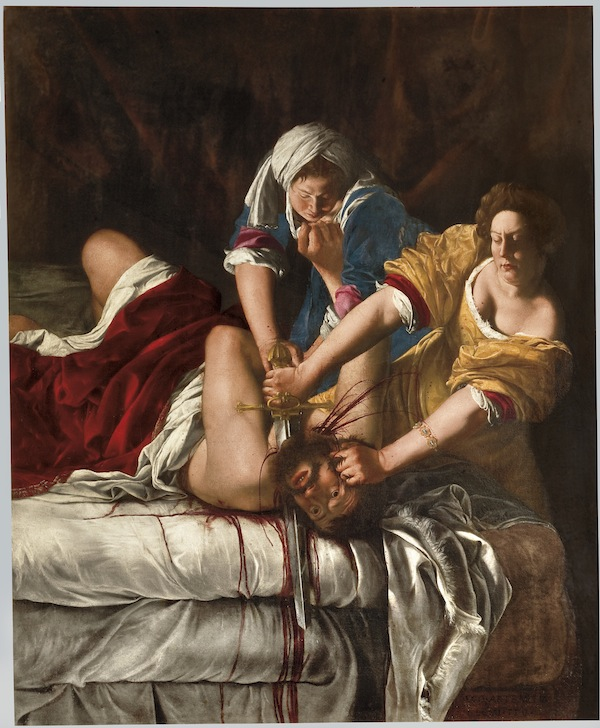 Artemisia Gentileschi, Judith Slaying Holofernes, ca. 1620, oil on canvas.  COURTESY GALLERIA DEGLI UFFIZI, FLORENCE.