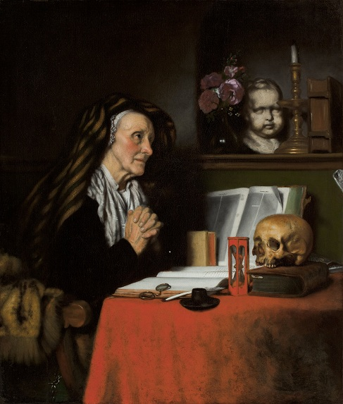 Nicolaes Maes, An Old Woman Praying, ca. 1655.