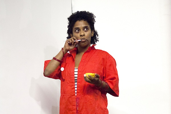 Tameka Norris, still from Untitled, 2012, digital video. COURTESY THE ARTIST AND THIRD STREAMING, NEW YORK. VIDEOGRAPHER TOM POWELL.