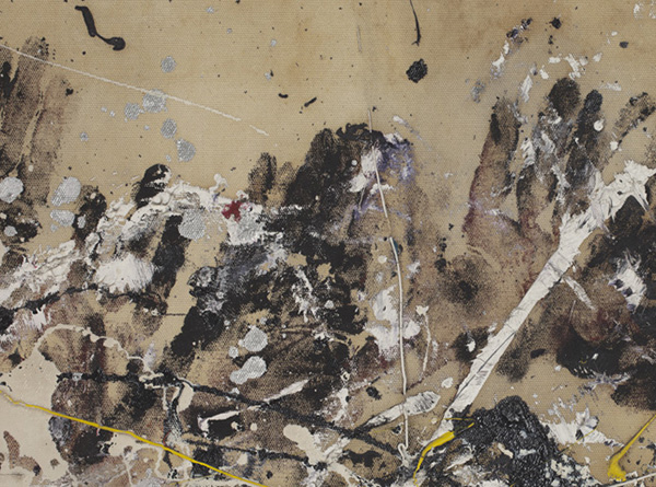 Jackson Pollock, Number 1A, 1948 (detail), 1948, oil and enamel paint on canvas.  ©2013 POLLOCK-KRASNER FOUNDATION/ARTISTS RIGHTS SOCIETY (ARS), NEW YORK. IMAGE COURTESY MOMA.