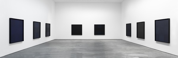 Installation view,  Ad Reinhardt, David Zwirner, New York, 2013. ©2013 ESTATE OF AD REINHARDT/ARTISTS RIGHTS SOCIETY (ARS), NEW YORK; COURTESY OF DAVID ZWIRNER, NEW YORK/LONDON.