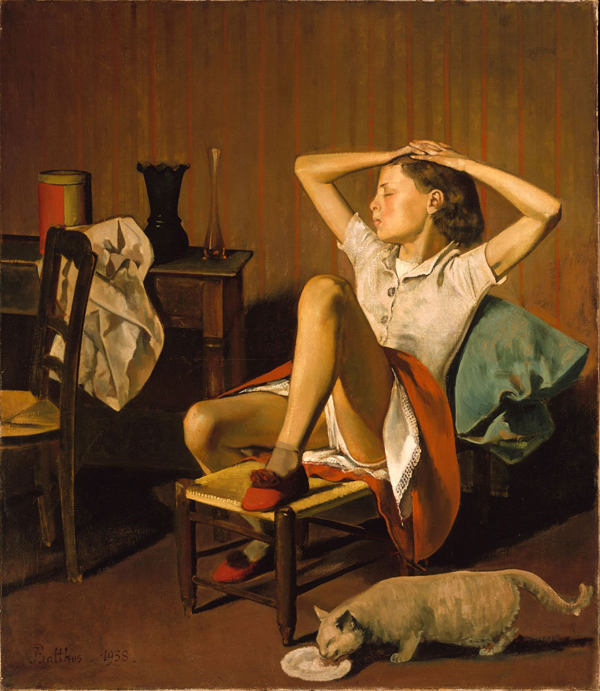 Balthus, Thérèse Dreaming, 1938, oil on canvas. COURTESY THE ARTIST AND METROPOLITAN MUSEUM OF ART, JACQUES AND NATASHA GELMAN COLLECTION 1998.