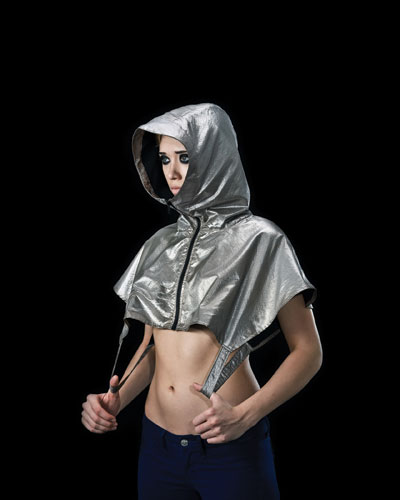 "The ""anti-drone"" hoodie by Adam Harvey and Johanna Bloomfield. ADAM HARVEY/AHPROJECTS.COM"