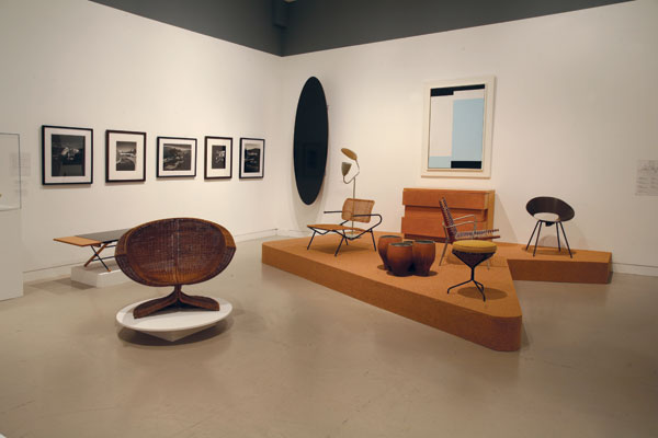 "An installation view of ""Birth of the Cool: California Art, Design, and Culture at Midcentury"" at the Orange County Museum of Art in Newport Beach, California, 2008.COURTESY ORANGE COUNTY MUSEUM OF ART, NEWPORT BEACH, CALIFORNIA"